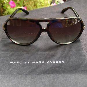 Marc by Marc Jacobs Aviator Sunglasses Dark Brown
